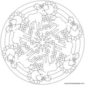 Don't Eat the Paste: Moose Mandala to color | Artistic Line Designs-all free | Scoop.it