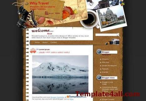 Free Travel Trips Blogger Theme Template | Blogger themes | Scoop.it