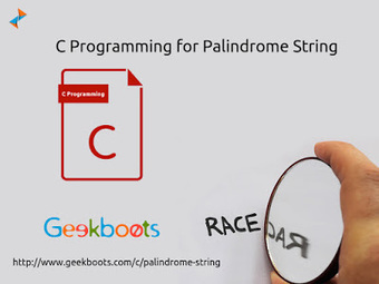 Palindrome String in C   Learn programming with examples   Scoop.it