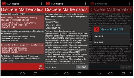 Green Open Access on your Android device: ArXiv mobile | Open Science | Exploring Open Access | Scoop.it