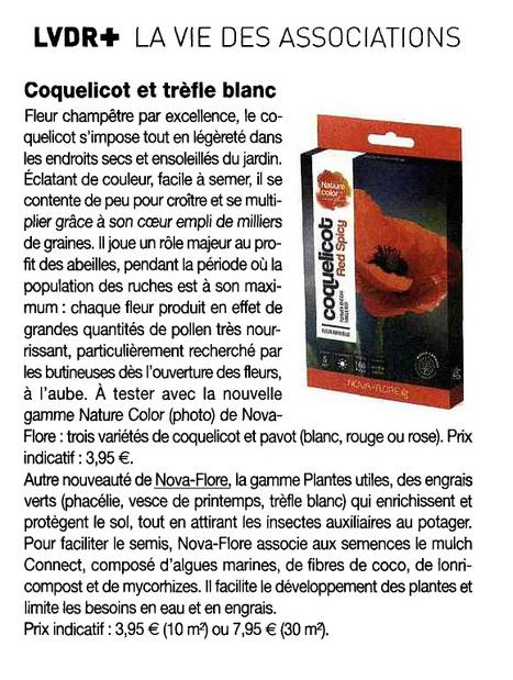 COQUELICOT ET TRÈFLE BLANC - La Vie du Rail - 27 mai 2016 | Revue de presse Nova-Flore | Scoop.it