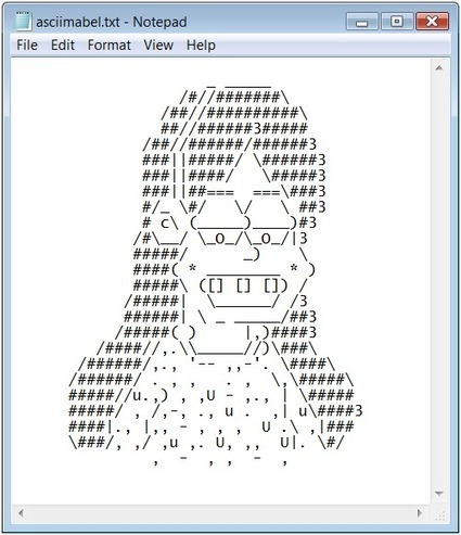 AT THE MABELS OF MADNESS • MABEL No. 46 ASCII Mabel. | ASCII Art | Scoop.it