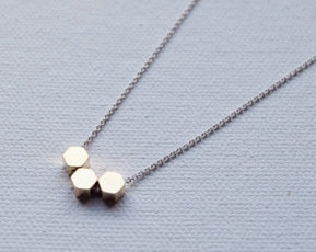 Hexagon Honeycomb Necklace | Layered Necklaces & Silver Bangle Bracelets | Scoop.it