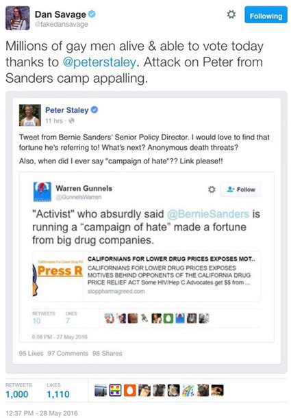 Sanders campaign again attacks top AIDS activist; LGBT community livid   HIV and the LGBT Community   Scoop.it