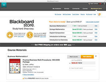 Blackboard Developing New Online Bookstore Right in the LMS -- Campus Technology   Blackboard Tips, Tricks and Guides for Higher Education   Scoop.it