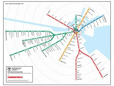 Beautiful Time-Scale Transit Maps by Peter Dunn : TreeHugger | Cartography | Scoop.it