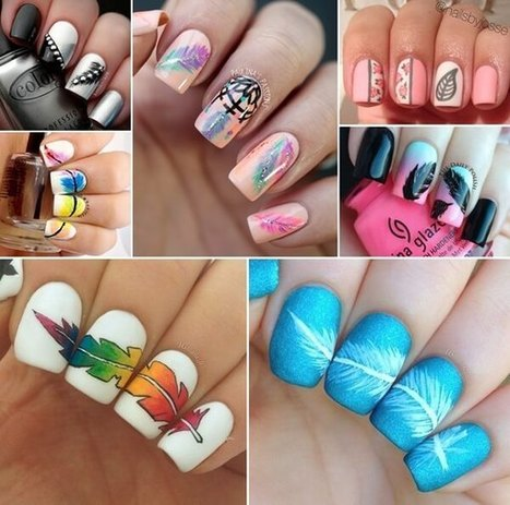 Wonderful Feather Nail Art Ideas for You to Try   Stylish Board   Scoop.it