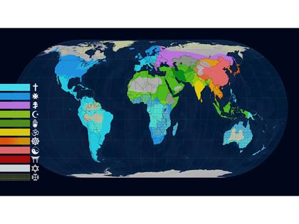Le dessous des cartes: Quelle est l'empreinte des religions sur la surface de la planète?   Hortense   Scoop.it