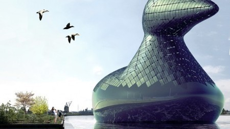 Artists design giant PV-packing floating duck for the city of Copenhagen | GizMag.com | @The Convergence of ICT & Distributed Renewable Energy | Scoop.it
