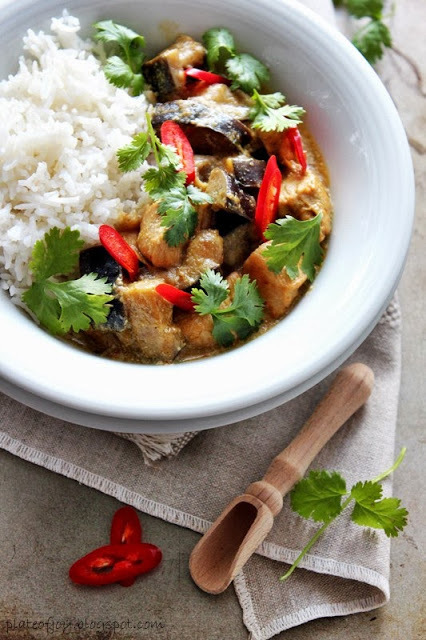 #HEALTHYRECIPE - Plate of Joy Curry with Chicken and Eggplant   Curry   Scoop.it