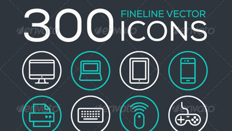 300 Fineline Icons | PixelsDaily | My Stuff | Scoop.it