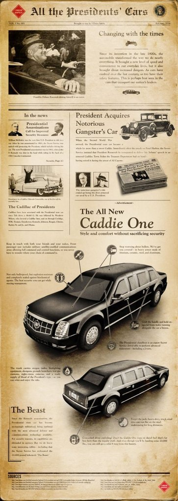 All the Presidents' Cars and The Caddilac [Infographic]   Automobiles   Scoop.it