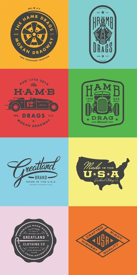 67 Beautiful Retro-Style Logos And Badges For Design Inspiration | xposing world of Photography & Design | Scoop.it