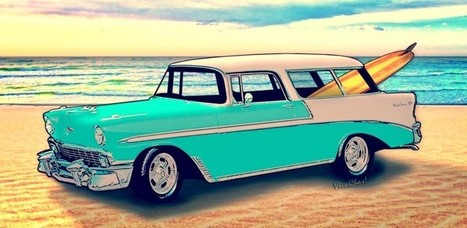 56 Nomad by the Sea in the Morning by VivaChas | VivaChas!  Hot Rod Art | Scoop.it