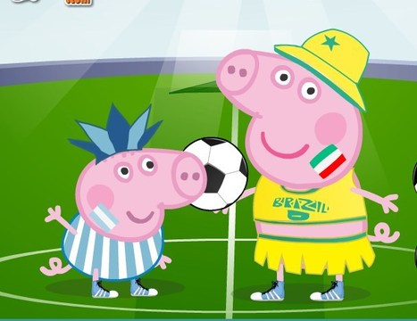 Peppa Pig World Cup Dress Up Game online - Play at G4K.Org | Games for kids | Scoop.it