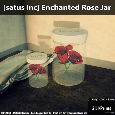 New Release: Enchanted Rose Jar By [satus Inc] | Teleport Hub - Second Life Freebies | Second Life Freebies | Scoop.it