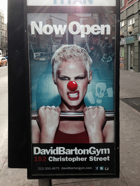 Clownify Stickers Street Art Project in New York City Improves Outdoor Ads with Clown Nose Stickers | Arts de rue | Scoop.it