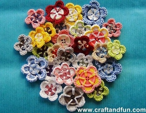 How to make a crochet flowers with recycled buttons | Crafts To Make | Scoop.it