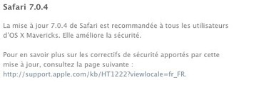 Safari 7.0.4, une mise à jour de sécurité | Apple, Mac, iOS4, iPad, iPhone and (in)security... | Scoop.it