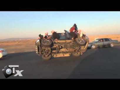 MUST SEE - Saudi Men Changing Tires While Driving | Staged | Scoop.it