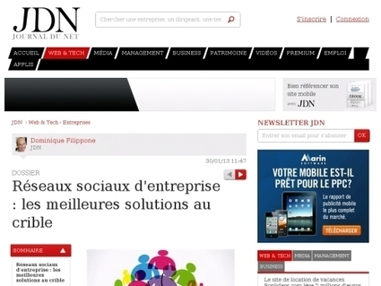 Réseaux sociaux d'entreprise : les meilleures solutions au crible - Websourcing.fr | Formation entreprise RSE | Scoop.it