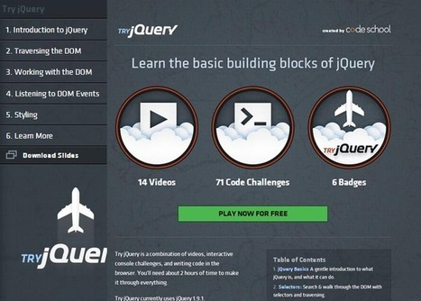 Learn basic of Jquery with try.jquery.com | W3 Update | Tutorial | Scoop.it