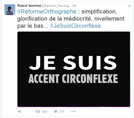 End of the circumflex? Changes in French spelling cause uproar | INTRODUCTION TO THE SOCIAL SCIENCES DIGITAL TEXTBOOK(PSYCHOLOGY-ECONOMICS-SOCIOLOGY):MIKE BUSARELLO | Scoop.it