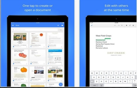Google Released Two New Updates to iPad Google Drive Apps ~ Educational Technology and Mobile Learning | JUST TOOLS | Scoop.it