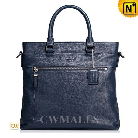CWMALLS® Mens Foldover Leather Totes CW906050   Mens Business Bags   Scoop.it