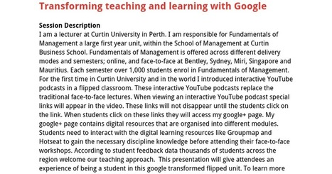 Transforming teaching and learning with Google | 21st Century School Libraries | Scoop.it