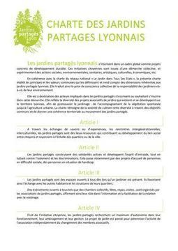 Charte Des Jardins Partagés | Jardins partagés de là-bas et au-delà - Community gardens from the world | Scoop.it