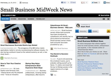 July 25 - Small Business MidWeek News | Business Futures | Scoop.it