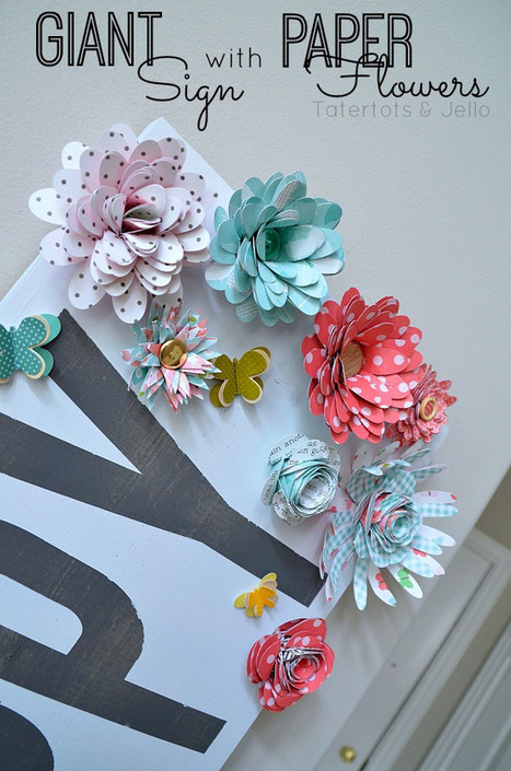 [Tutoriel] Fleurs en papier | Déco fait maison, récup, upcycling, jardinage | Scoop.it
