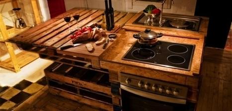 38 réalisations à base de palettes pour vous inspirer uniquement dans votre cuisine... | DIY | Scoop.it