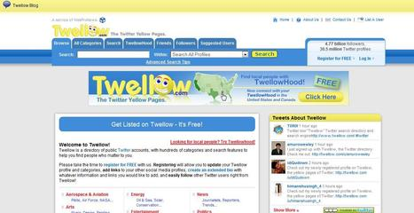 Twellow - another Twitter search | Social media kitbag | Scoop.it