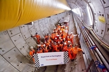 Crossrail completes construction of first train tunnel under London | Actualité ferroviaire internationale - International railway news | Scoop.it