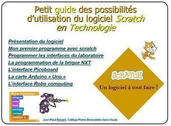 Guide pour l'utilisation du logiciel Scratch en technologie en collège | TICE, Web 2.0, logiciels libres | Scoop.it