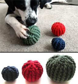Textured Ball Dog Toys - Crochet Spot | HANDMADE | Scoop.it