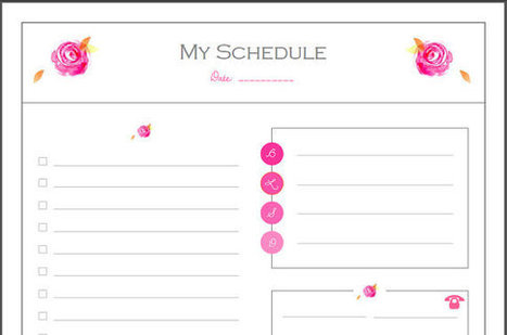 Daily To - do Floral checklist {with categories} PDF Planner, (list, daily to do, to cook, appointment) planner pages pdf, Instant Download | Blogging & Social Media | Scoop.it