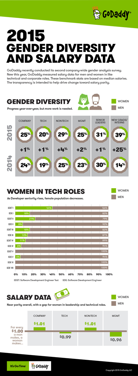 GoDaddy 2015 gender diversity and salary stats [Infographic] - The Garage | WELLNESS | Scoop.it