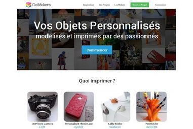 GetMakers : L'impression 3D collaborative arrive en France ! - Génération NT | impression 3D | Scoop.it