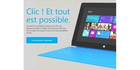 1.5 million de tablettes Microsoft Surface vendu, le succès n?est pas au rendez-vous | Numérique et TIC | Scoop.it