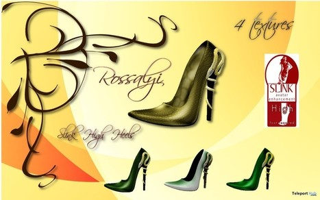 Stiletto 4 Textures 99L Promo by Rossalyi | Teleport Hub - Second Life Freebies | Second Life Freebies | Scoop.it