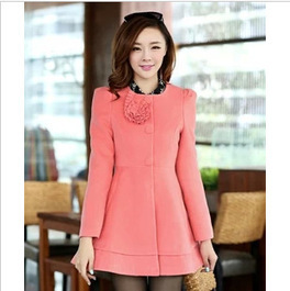 Cheap large rose hair collar Slim woolen trench coat with bowknot in women outcoat from women clothing on sightface.com | Cheap women Clothing Online at Sightface | Scoop.it