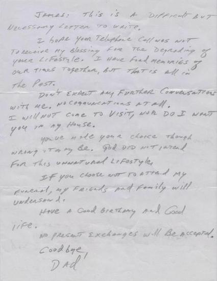 De Avanzada: Carta de creyente a su hijo gay | Religiones. Una visión crítica | Scoop.it