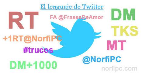 Las abreviaturas y caracteres usados en el lenguaje de Twitter | Eskola  Digitala | Scoop.it