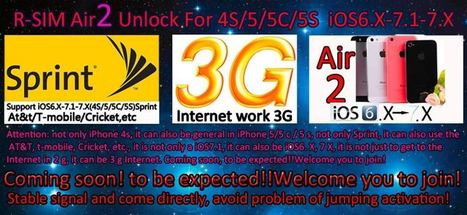 Đã Phát hành R-SIM Air2 Unlock For Iphone 4S/5/5C/5S iOS6. 7.1.1/ 7.X Sprint+N | iPhone Giá Rẻ - iPhone VinaPhone | Game Mobile | Scoop.it