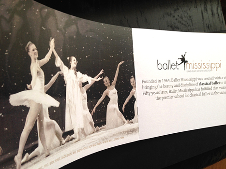 Ballet Mississippi tells their story in this new brochure designed to get that message out there and rally supporters. | Flynn Design | Scoop.it
