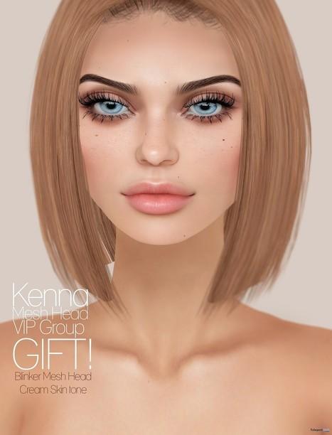 Kenna Mesh Head Group Gift by Genesis Lab | Teleport Hub - Second Life Freebies | Second Life Freebies | Scoop.it