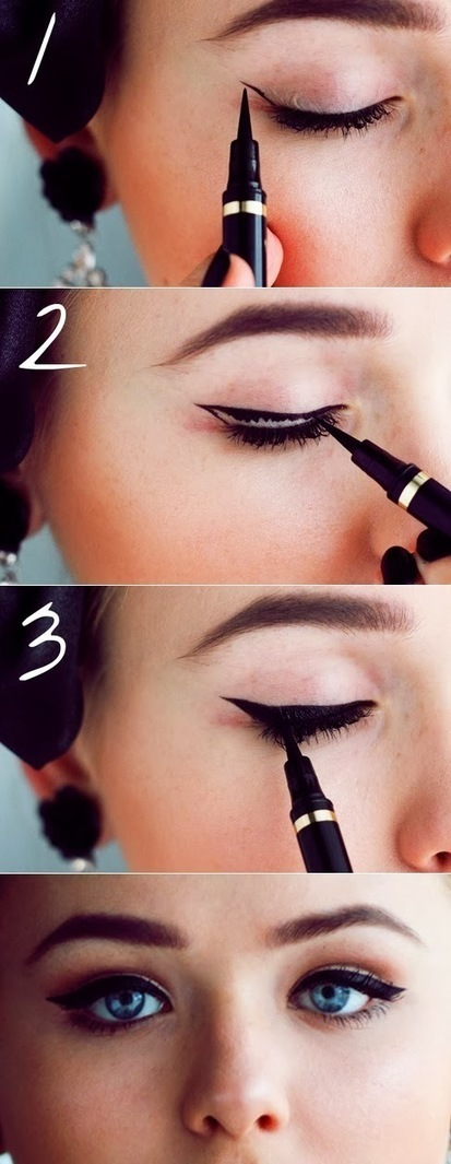 How To Draw a Perfect Cat Eye, Every Time. | Hairstyle Tutorials | Scoop.it